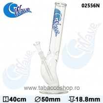 Bong din sticla Wave Blue 40cm
