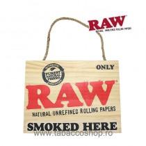 Semn din lemn RAW Smoked...