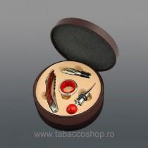 Cutie rotunda din lemn maro...