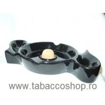 Scrumiera ovala pentru 2 pipe