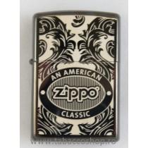Bricheta Zippo Scroll Black